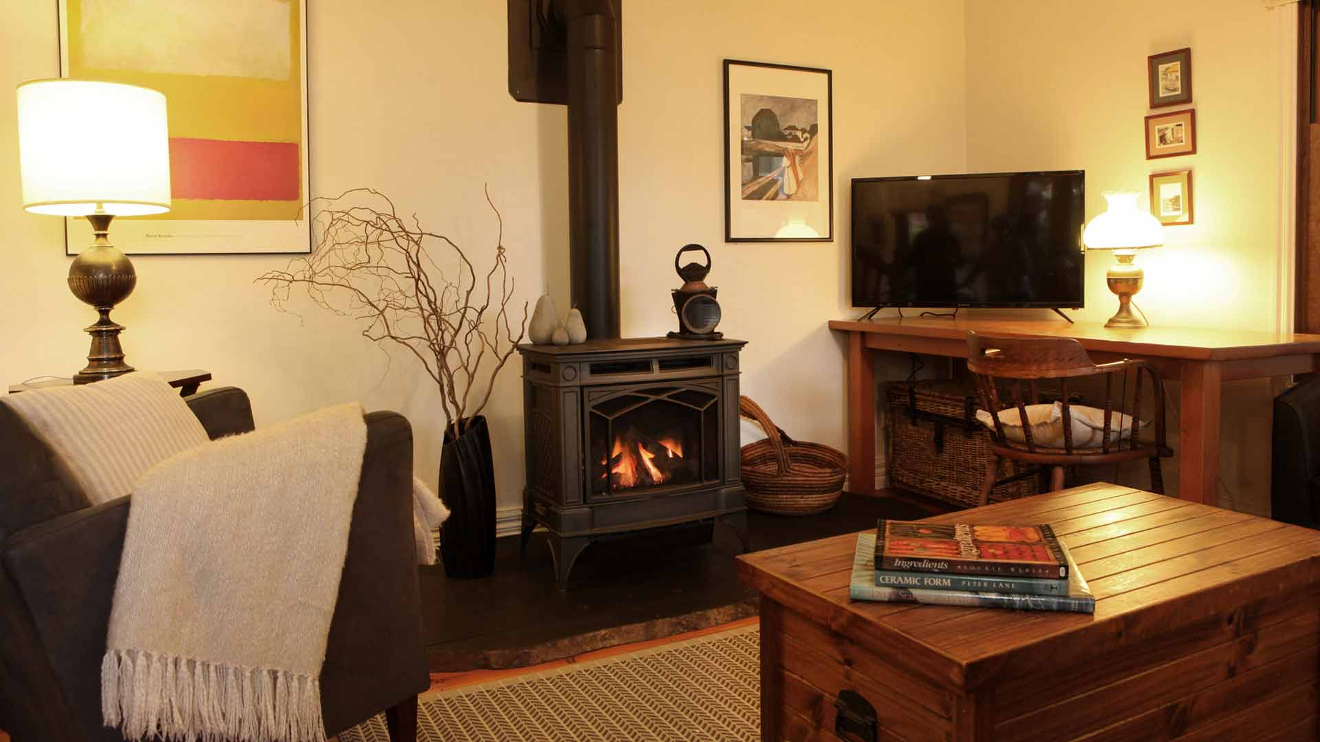 The Lounge with fire